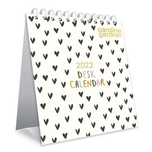 Caroline Gardner Hearts Desk Calendar
