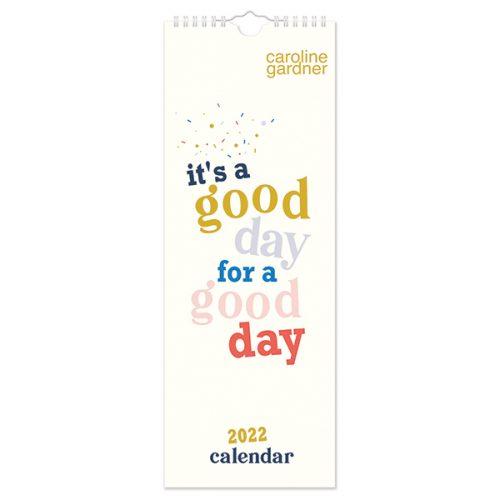 C22027 Caroline Gardner Positive Vibes Slim Calendar