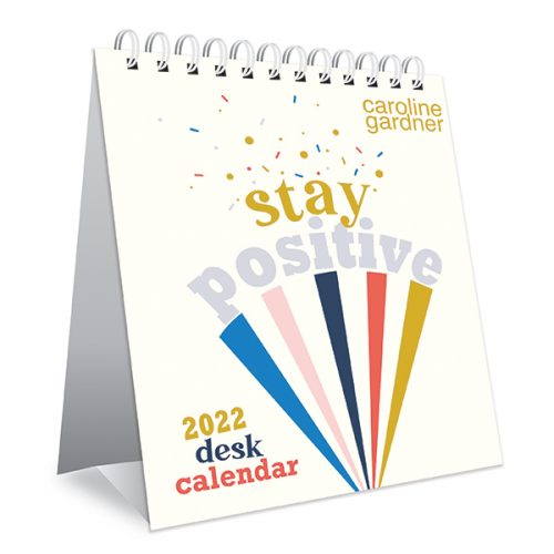 Caroline Gardner Positive Vibes Desk Calendar