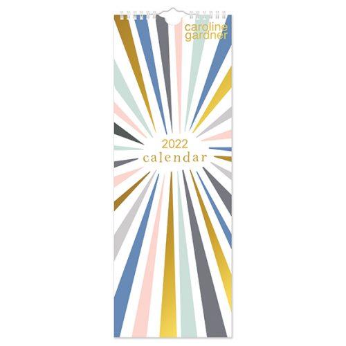 C22030 Caroline Gardner Rainbow Bursts Slim Calendar