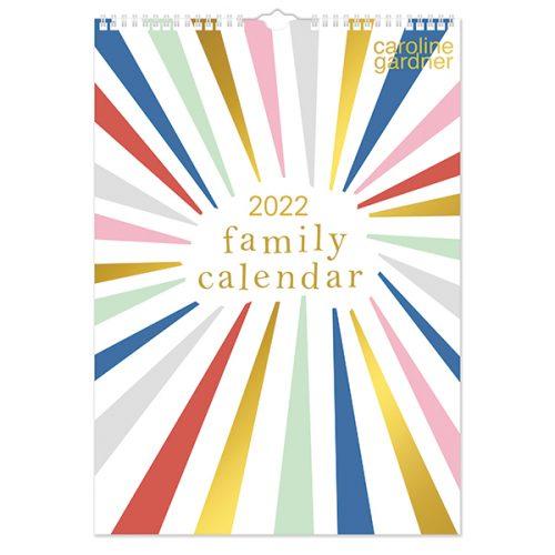 C22031 Caroline Gardner Rainbow Bursts A3 Family Calendar