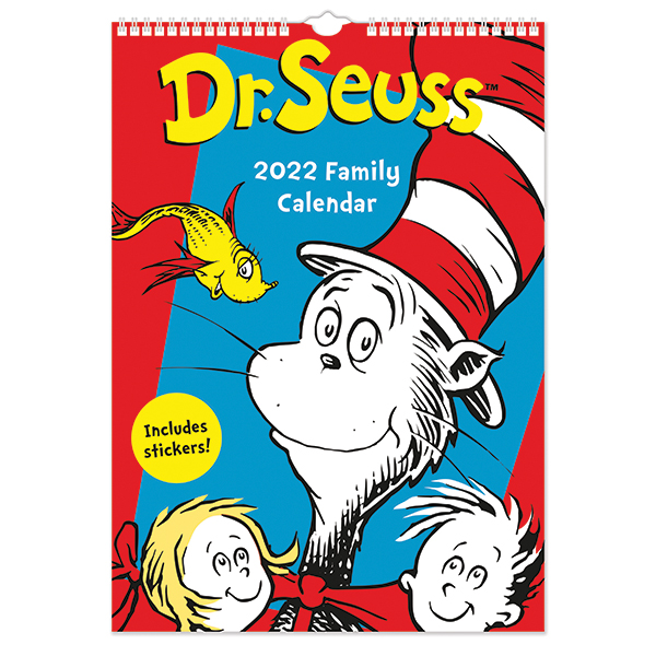 C22042 Dr Seuss A3 Family Calendar with stickers