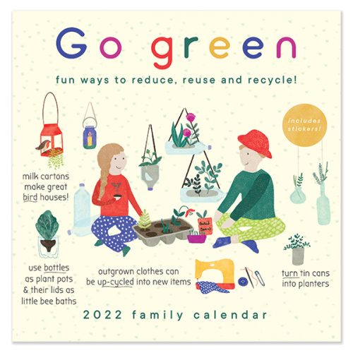 C22054 Go Green SQ Family Calendar