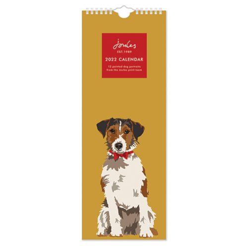 C22067 Joules Dogs Portraits Slim Calendar
