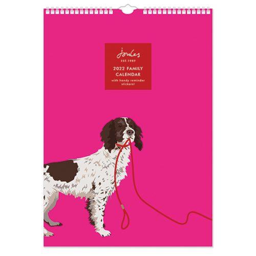 C22069 Joules Dogs Portraits A3 Family Calendar