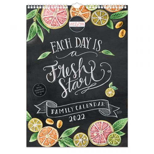 C22076 Lily & Val A3 Family Calendar with Reminder Stickers