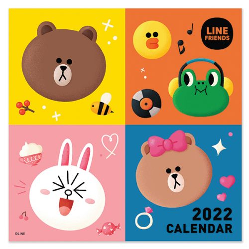 C22077 Line Friends SQ Calendar