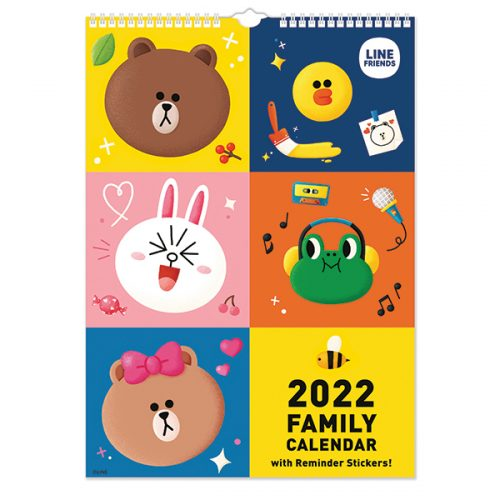 C22078 Line Friends A3 Family Calendar