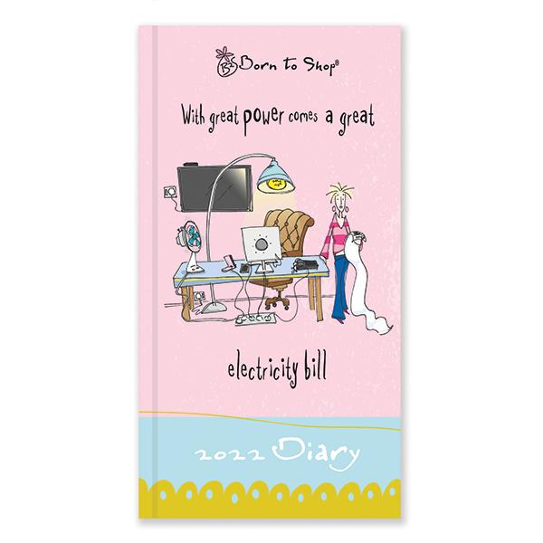 D22505 Born to Shop Slim Diary