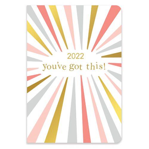 D22509 Caroline Gardner Rainbow Bursts A5 Flexi Diary