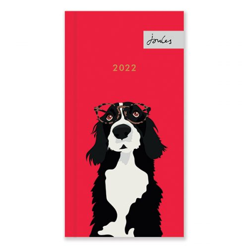 D22520 Joules Dogs Portraits Slim Diary