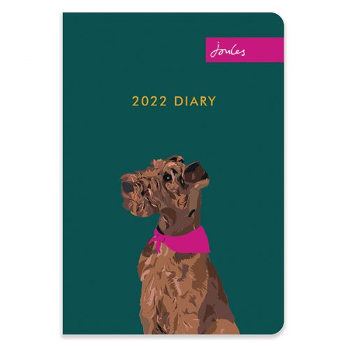 D22521 Joules Dogs Portraits A5 Diary
