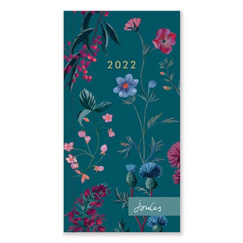 D22522 Joules Westbourne Floral Slim Diary