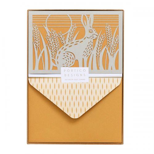 GTNC1705 FOLKLORE HARE BOXED LASER CUT envelope